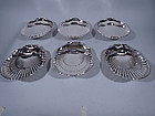 Set of 12 Gorham Large Sterling Silver Scallop Shells
