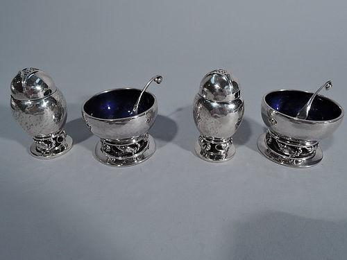 Georg Jensen Blossom Sterling Silver 6 Piece Salt & Pepper Set