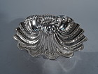 Italian Hand Hammered Sterling Silver Scallop Shell Bowl