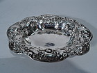 Antique American Sterling Silver Bowl with Flowers