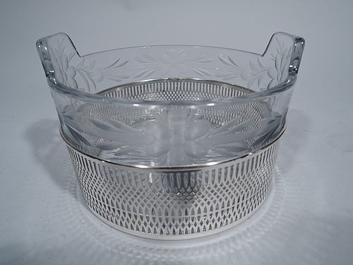 Frank Whiting Sterling Silver and Crystal Ice Bucket