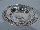 Antique American Sterling Silver Bowl with Neoclassical Ornament