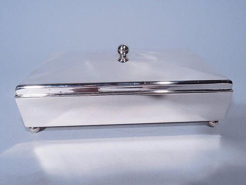 American Modern Sterling Silver Box C 1925