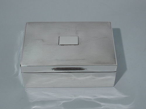 English Modern Sterling Silver Desk Box 1934