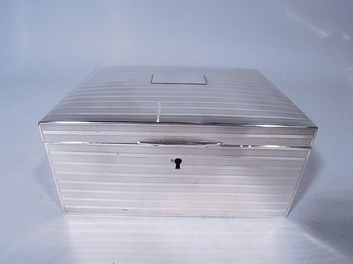 Tiffany Edwardian Sterling Silver Jewelry Box