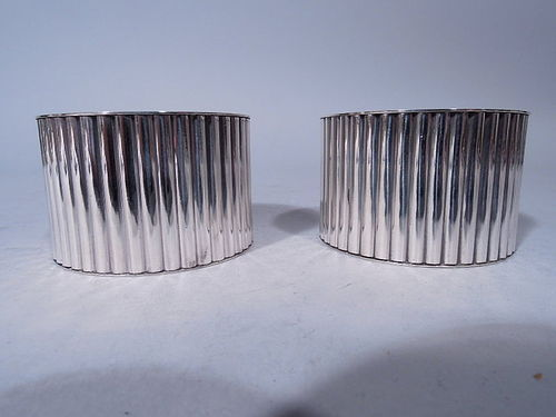 Pair of Cartier Modern Sterling Silver Napkin Rings