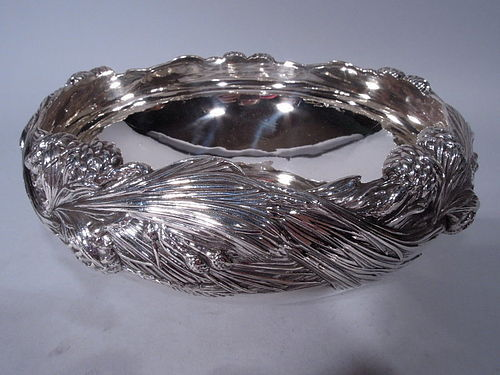 Tiffany Sterling Silver Bowl with Rare Pine Cone Motif