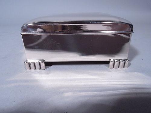 American Modern Sterling Silver Box C 1950