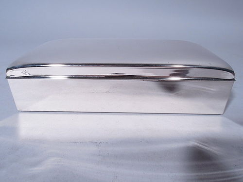 American Modern Sterling Silver Desk Box