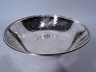 Tiffany Sterling Silver Bowl with Engraved Trees C 1907