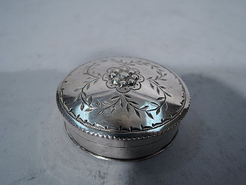 Antique German Engraved Silver Snuffbox 18th C
