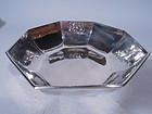 Kalo Hand Hammered Sterling Silver Art Deco Bowl