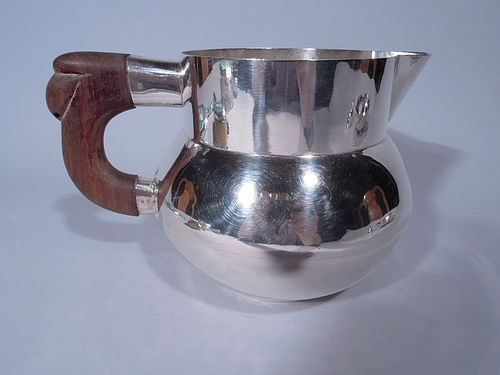 Mexican Heavy Sterling Silver Water Pitcher Signed Anton