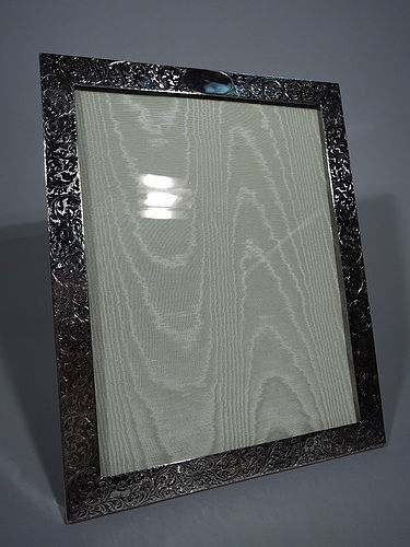 Tiffany Large Art Nouveau Sterling Silver Picture Frame