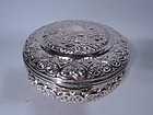 Egyptian Silver Box with Romantic Valentine�s Day Hearts