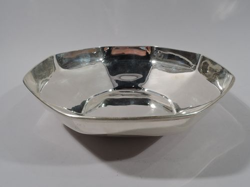 Art Deco Sterling Silver Octagonal Bowl by Tiffany C 1923