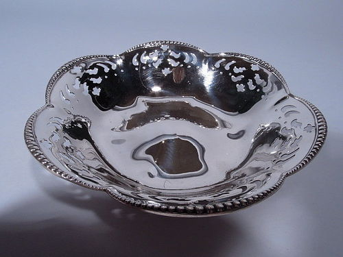 Antique Tiffany Sterling Silver Pierced Bowl C 1898