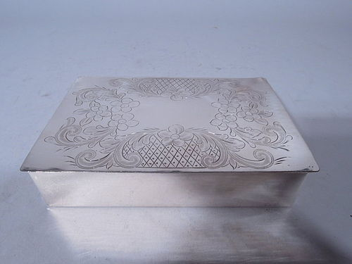 Antique American Handmade Sterling Silver Box
