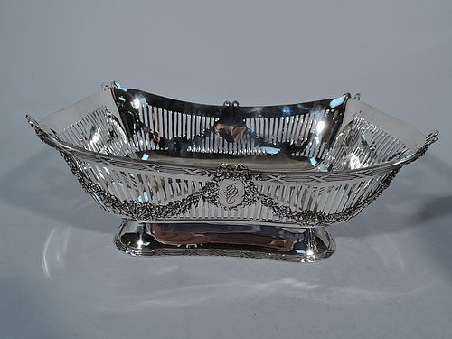 JE Caldwell Extra Heavy Neoclassical Sterling Silver Bread Basket