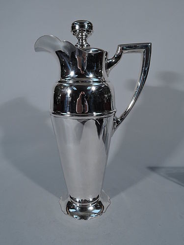 Large American Sterling Silver Cocktail Shaker C 1930