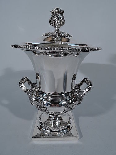 Traditional English Sterling Silver Covered Trophy Cup