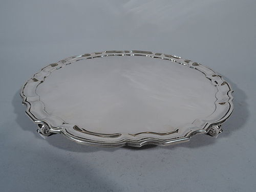 Tiffany Georgian Style Sterling Silver Salver Tray