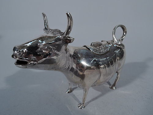 Cartier Sterling Silver Sweet Beast Cow Creamer