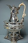 Paul Storr Sterling Silver Coffeepot on Stand 1811