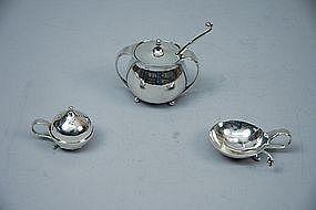 Georg Jensen Sterling Silver 3-Piece Condiment Set