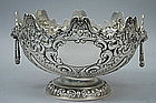 Antique English Sterling Silver Monteith Bowl 1895