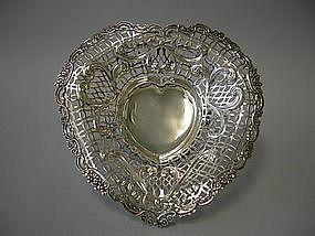 Victorian Silver Bowl By Wm. Comyns, London, 1890
