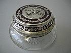 French Enamel And Silver Powder Jar C 1900