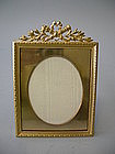 French Dore Bronze Picture Frame  C. 1900