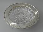 Tiffany Sterling Silver Brilliant Cut Glass Bowl C 1910