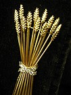 Tiffany & Co. Sheaf of  Wheat 18 Karat Gold Pin