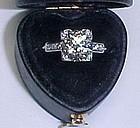 Platinum and Diamond 1920s Engagement Ring