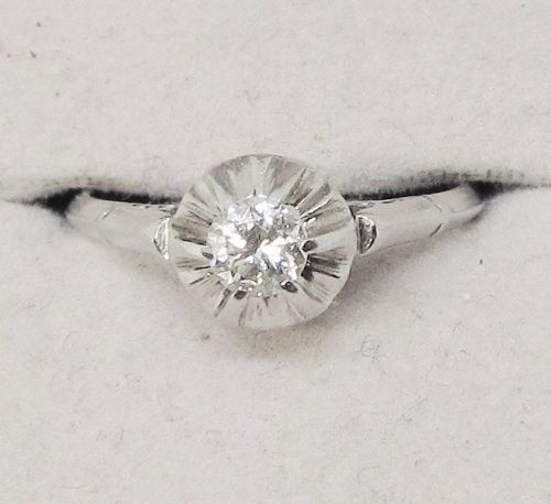 Buttercup Style Platinum and Diamond Ring