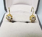 Diamond Hanging Earrings set in 14Kt Gold