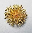 Tiffany & Co. 18Kt Gold Sea Anemone Pin / Broach
