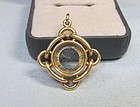 14Kt Pink Gold Compass Fob/Pendant