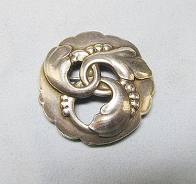 Georg Jensen Sterling Broach