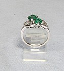 Double the Beauty Emerald and Diamond Ring
