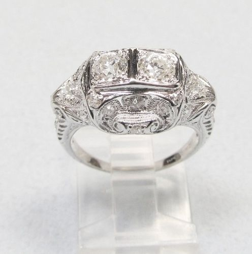 A classic platinum and diamond ring for a special someone