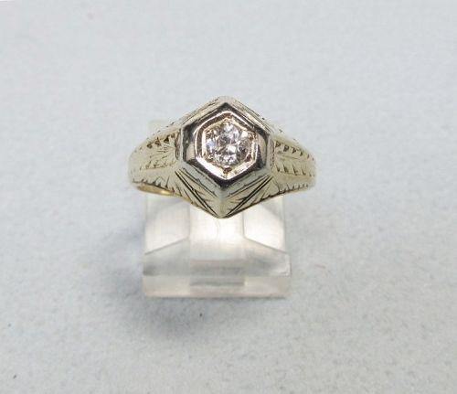 Art Deco Solitaire Diamond Ring