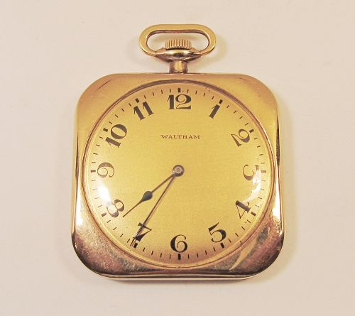 Square Waltham 14Kt Gold Pocket Watch