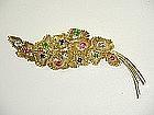 1960'S 18KtGOLD DIAMOND, RUBY, EMERALD, SAPPHIRE BROOCH
