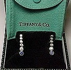 Tiffany & Co. Jazz Earrings with Diamonds and Sapphires