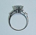 Great Platinum and Diamond Estate Engagement Ring
