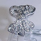 Platinum and Diamond Bow Ring