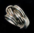 "RARE ANTONIO PINEDA Mexican 970 Silver MOD ""KNOTS"" RING"